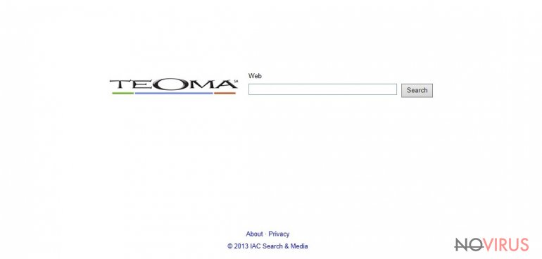 The picture of Teoma Web Search