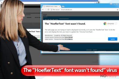 """The HoeflerText font wasn't found"" virus"