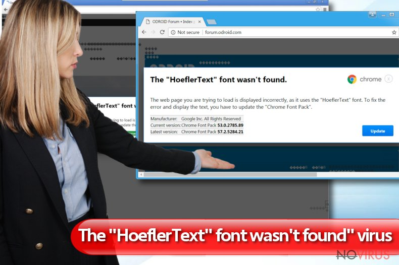 """The HoeflerText font wasn't found"" virus"