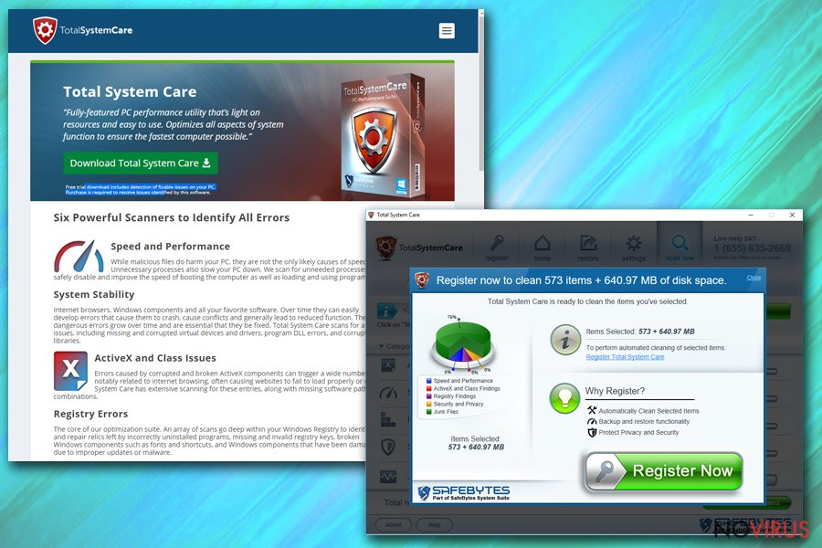 Total System Care virus