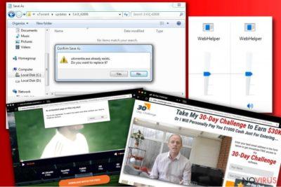 Example of WebHelper ads