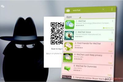 Shapes of WeChat virus