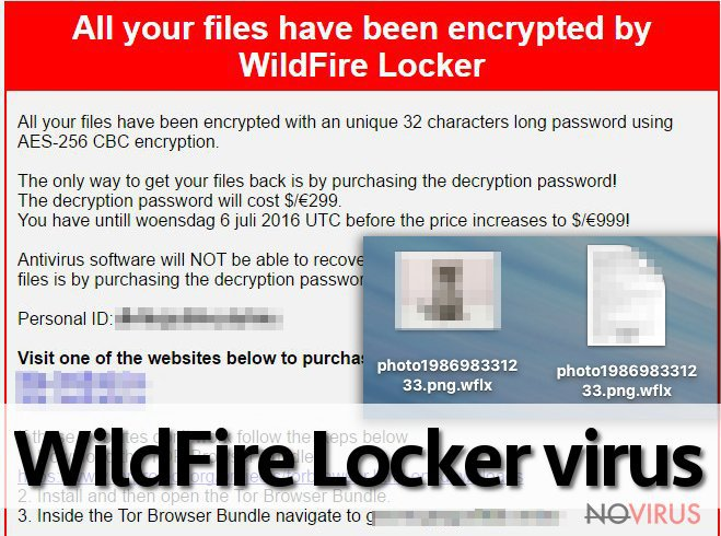 The picture of of WildFire Locker ransomware