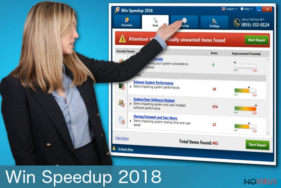 Win Speedup 2018 fake cleaning tool