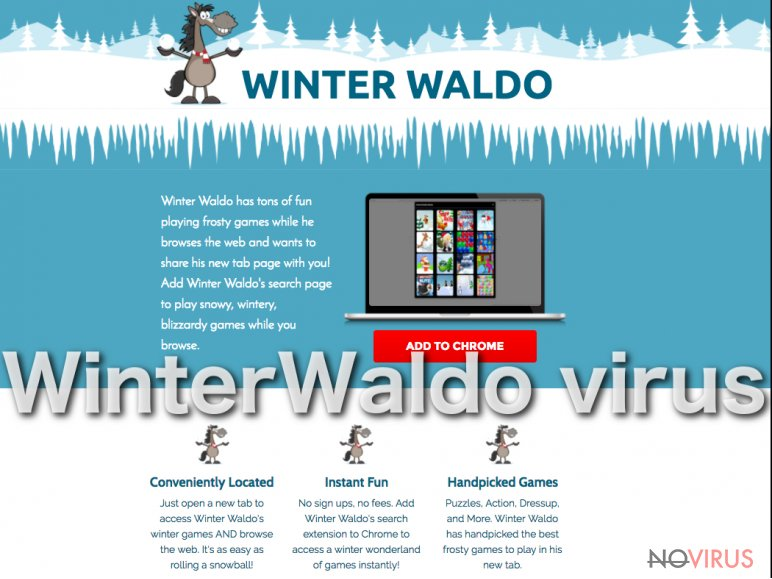 The picture of WinterWaldo.com virus