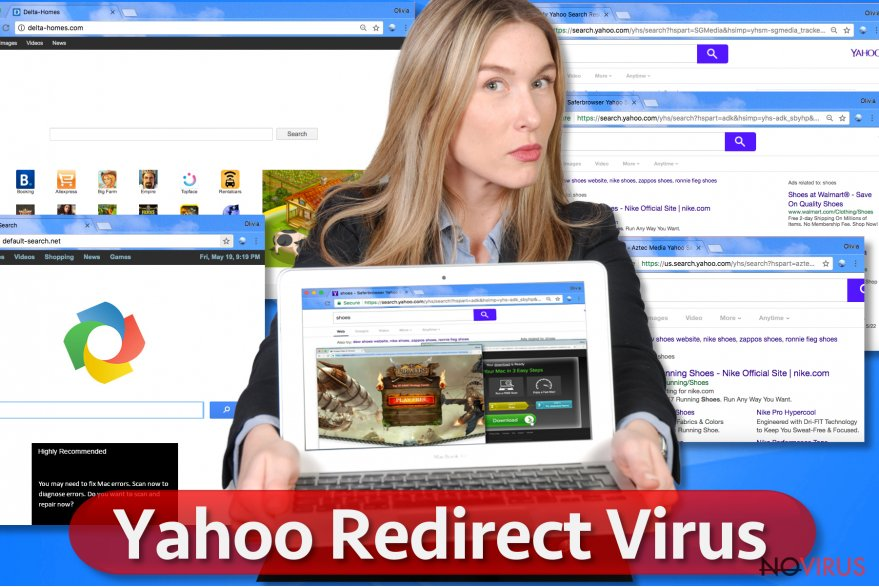 Yahoo Redirect virus screenshot