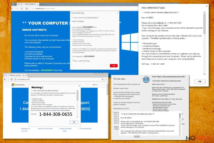 Your computer has been blocked screenshot
