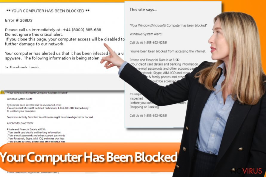 Your computer has been blocked screenshot