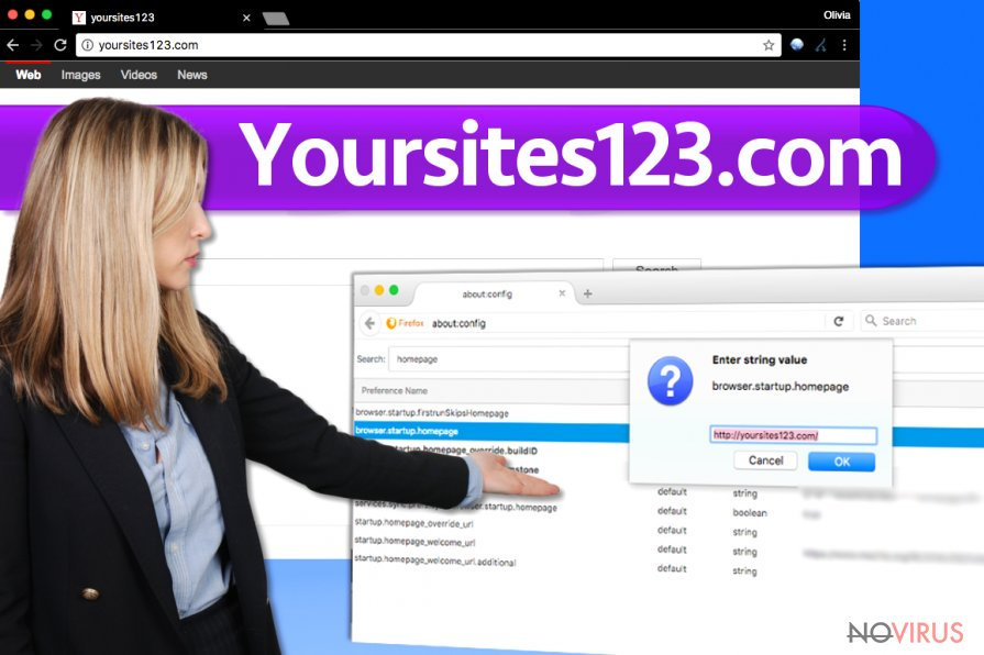YourSites123.com virus screenshot