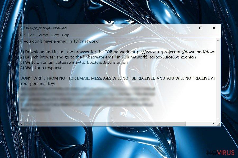 Yyto ransoware virus