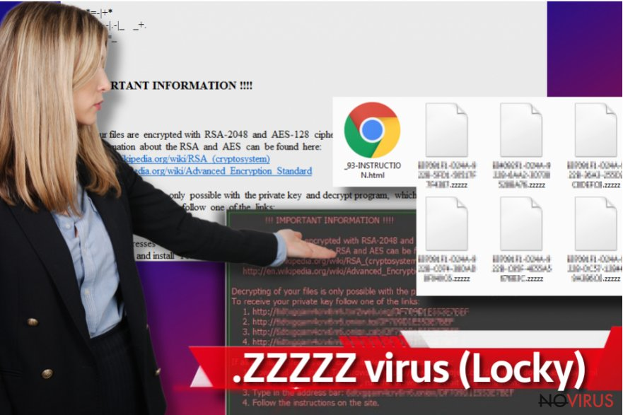 Zzzzz virus screenshot